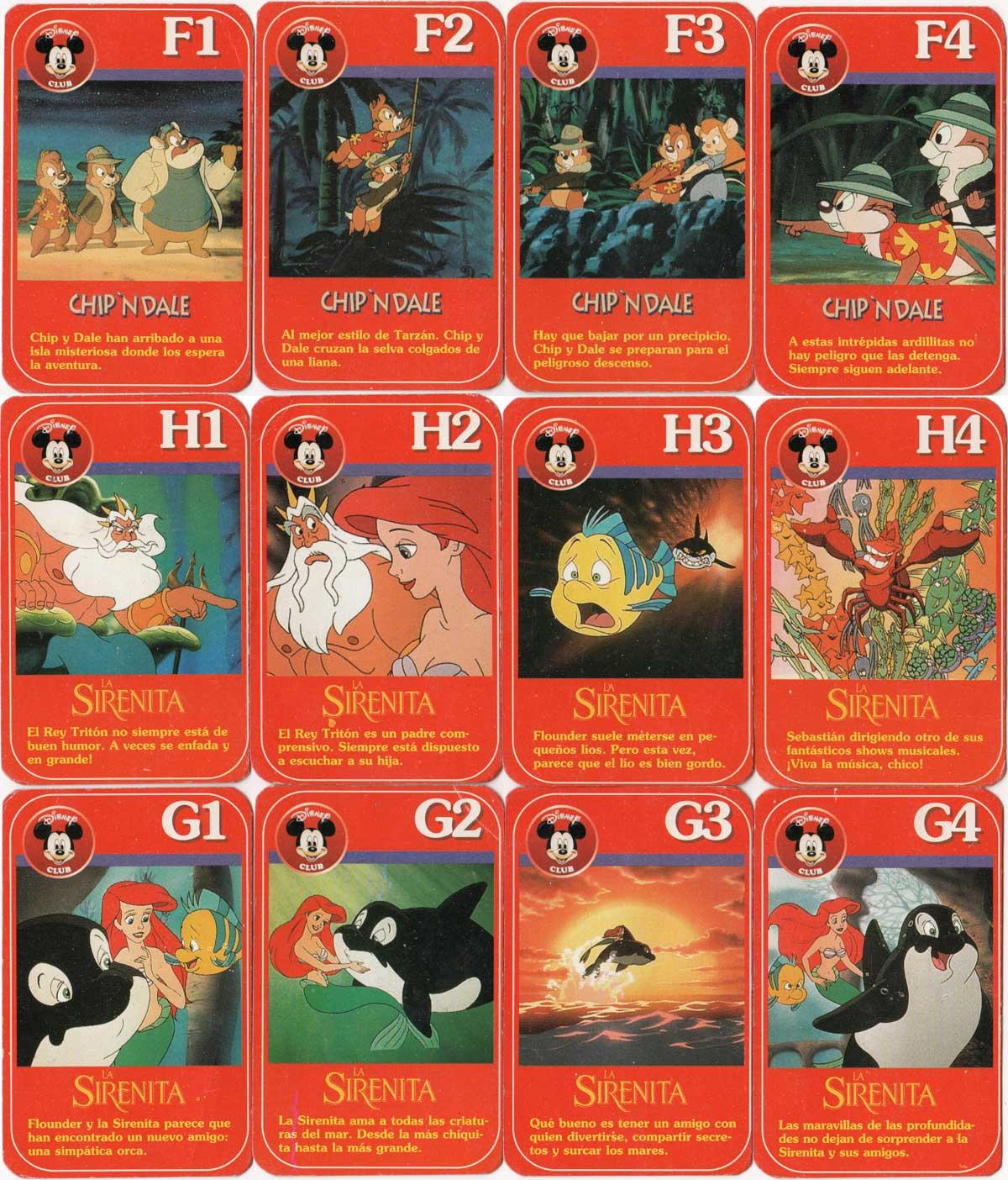 Disney Club card game by Cromy, 1990