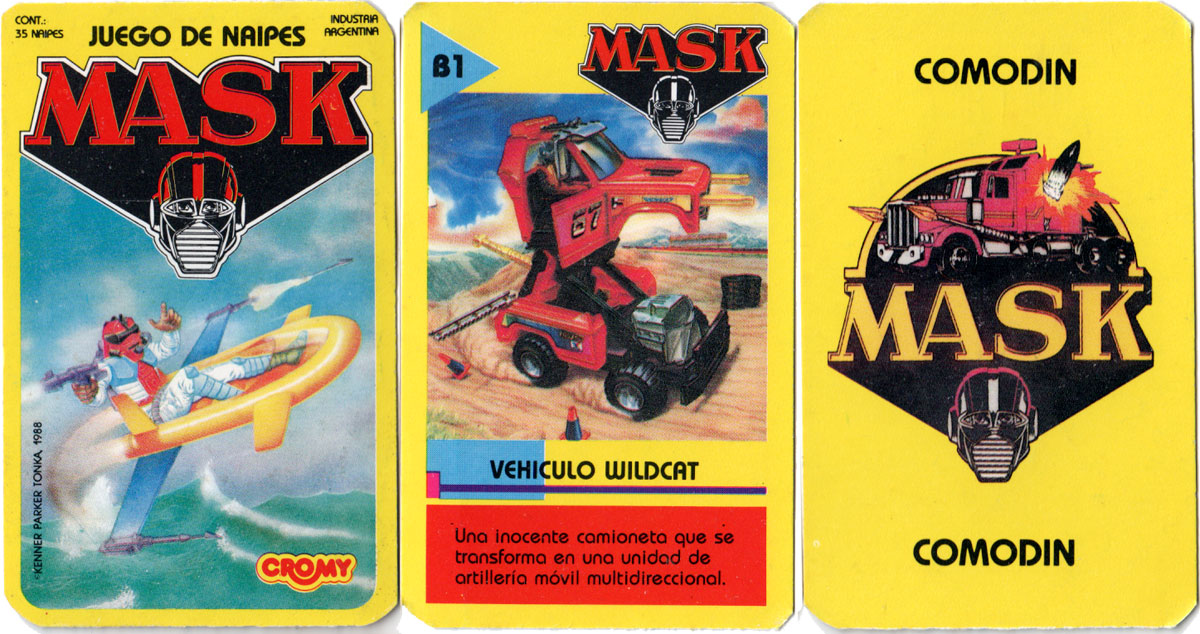 Mask card game by Cromy, 1988