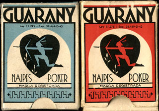 Naipes Guarany boxes, c.1965