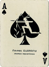 Ace of spades, naipes Guarany, c.1940