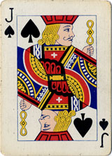 Jack of spades, naipes Guarany, c.1940