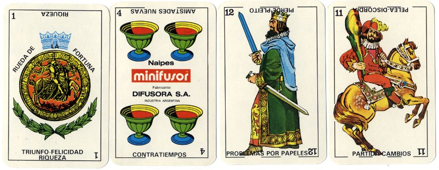 Buena Suerte Cartomancy cards published by Difusora S.A., Argentina, c.1980