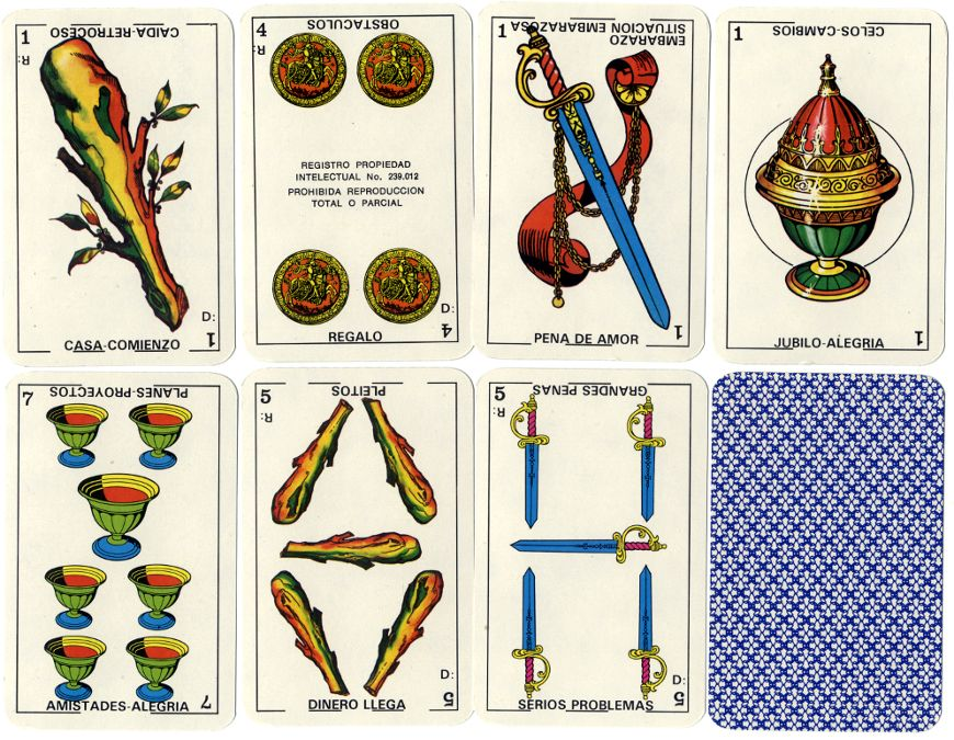 Buena Suerte Cartomancy cards published by Difusora S.A., Argentina, c.1975