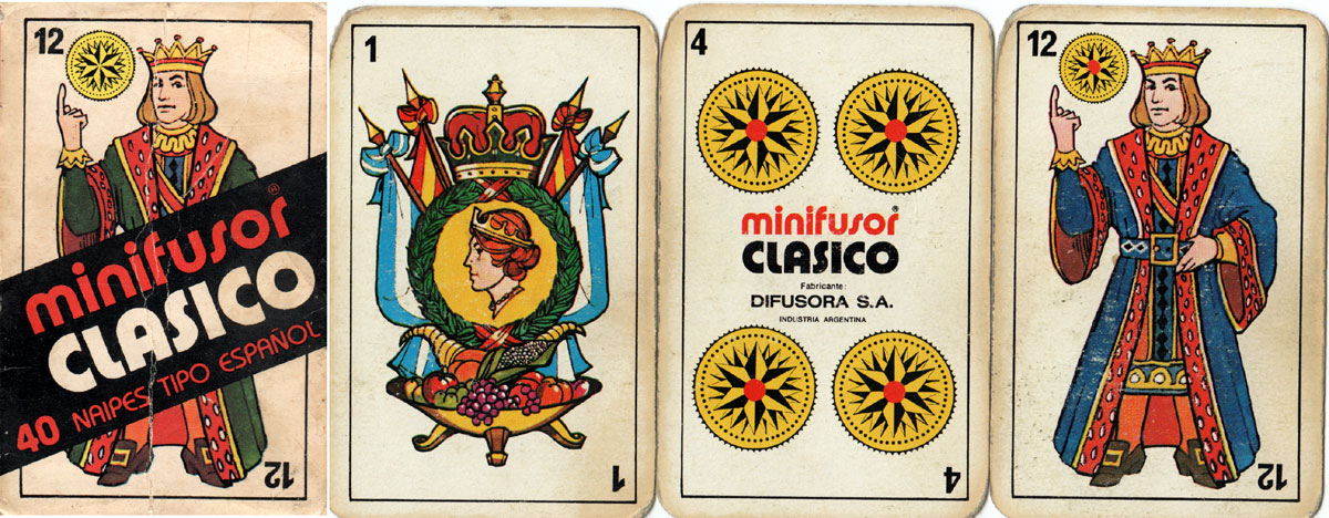 Minifusor Clásico, a modern re-drawing of the Catalan pattern published by Difusora, c.1980