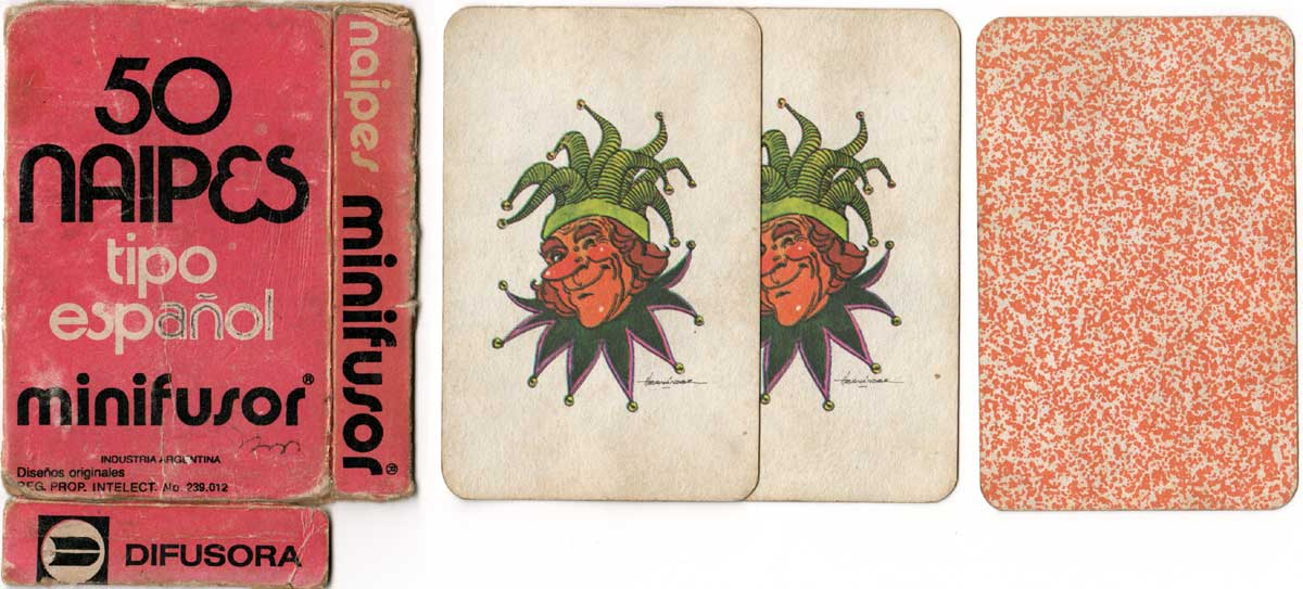 Naipes Minifusor tipo Español published by Difusora S.A., c.1980