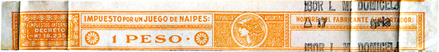 1 Peso orange tax band, c.1950