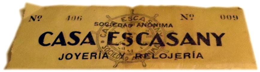 Casa Escasany letterhead, c.1930