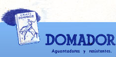 Naipes DOMADOR advert from note booklet, c.1940