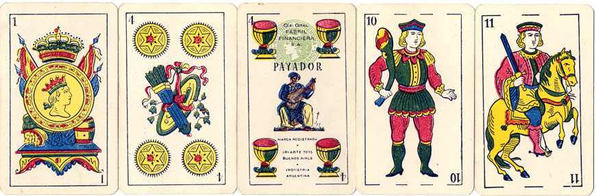 Naipes Payador by Cia Fabril Financiera, c.1960