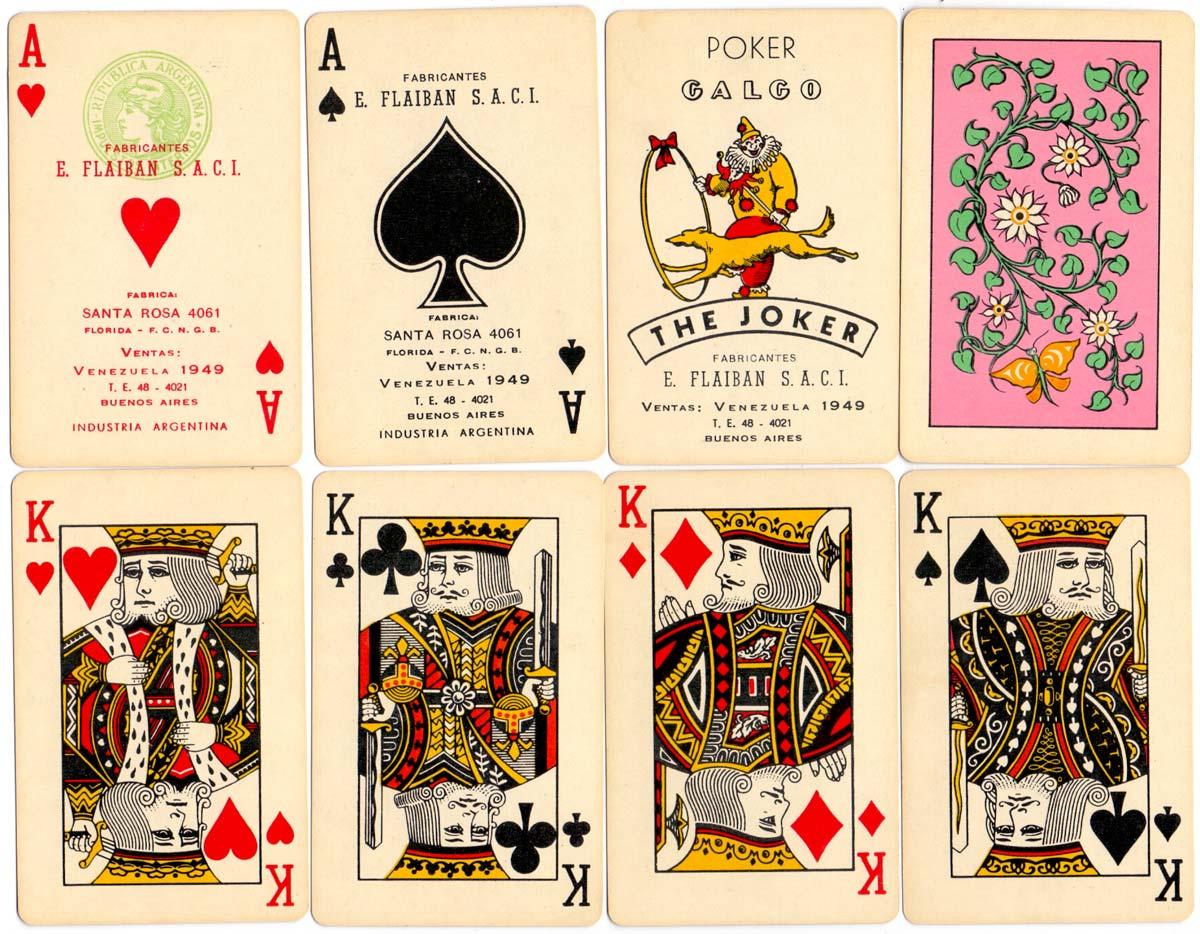 Naipes Poker GALGO, late 1960s