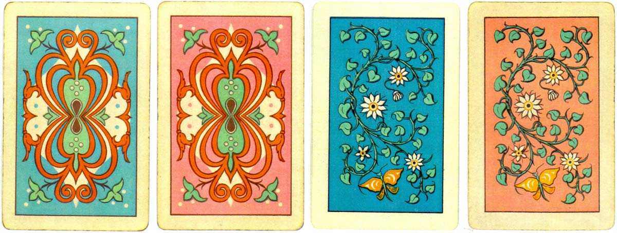 Back designs from Naipes Poker GALGO, late 1960s