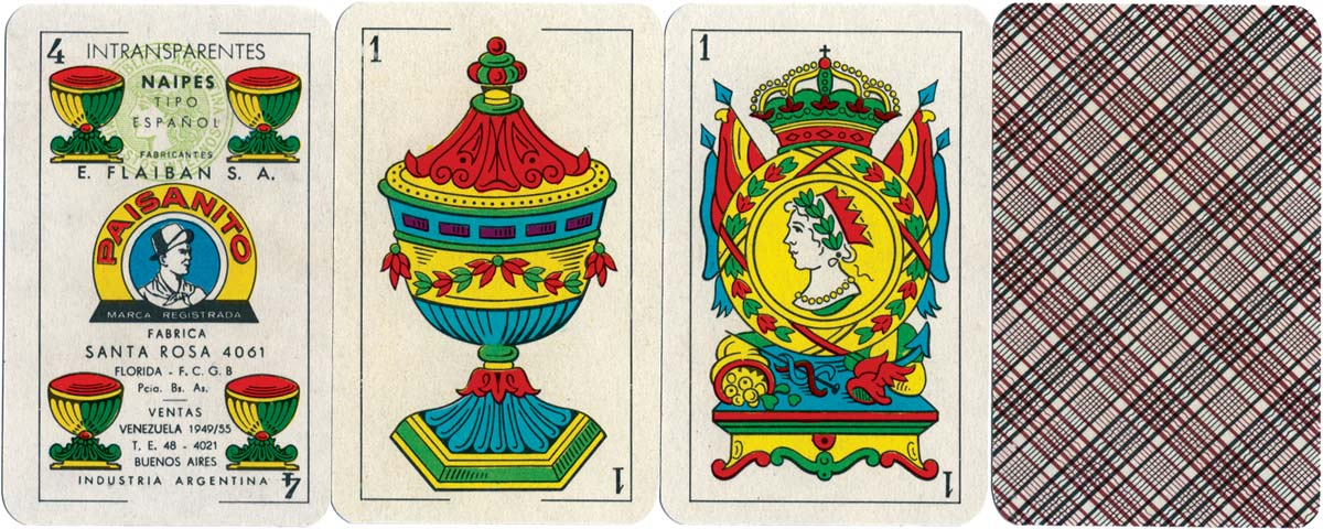 Paisanito playing cards, 1955-1960