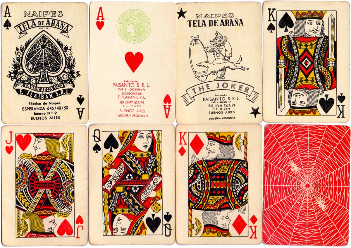 Poker Tela de Araña manufactured by Flaiban during the Paisanito S.R.L. period in c.1952-53