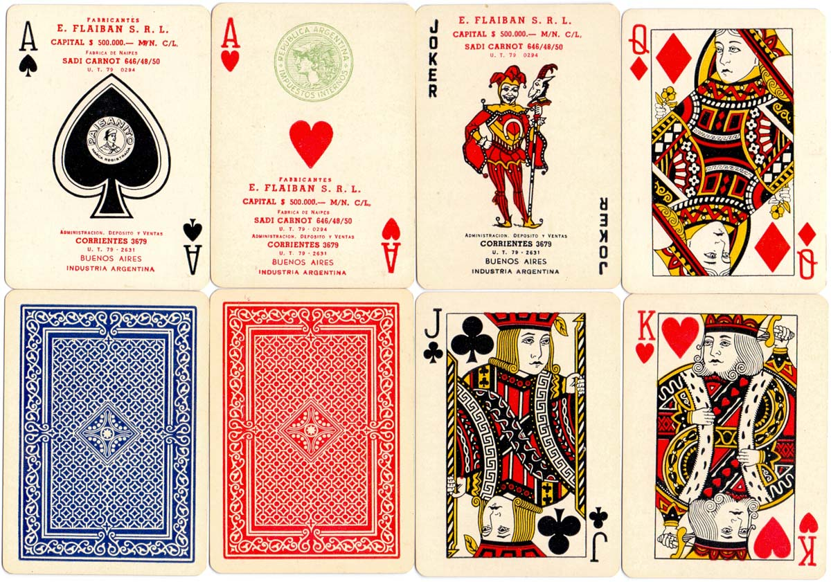 """Poker Paisanito"" manufactured by E. Flaiban S.R.L., c.1943"