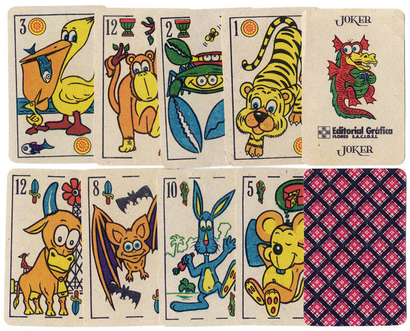 Comic Animals playing cards, c.1985