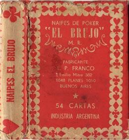E. P. Franco, Box from Naipes 'El Brujo', Buenos Aires c.1953