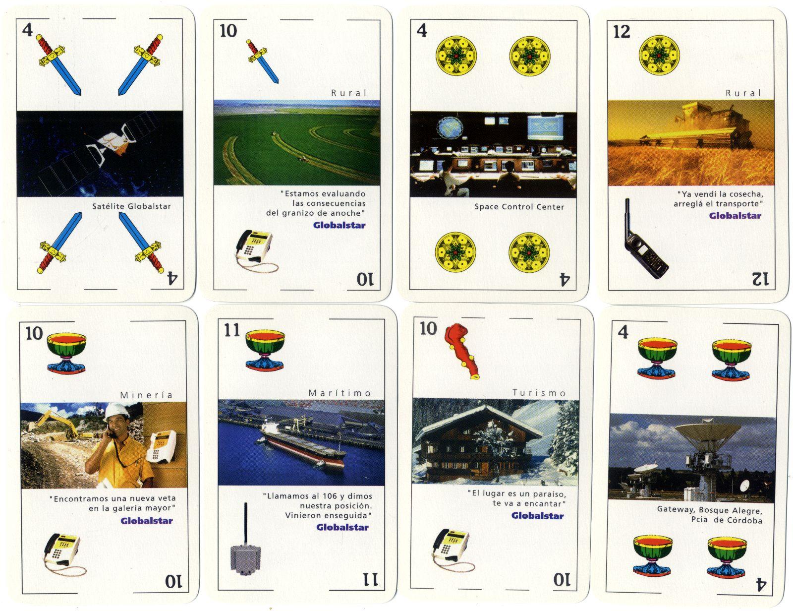 Naipes Globalstar TE.SA.M. Telefonía Satelital manufacturado por Gráfica 2001