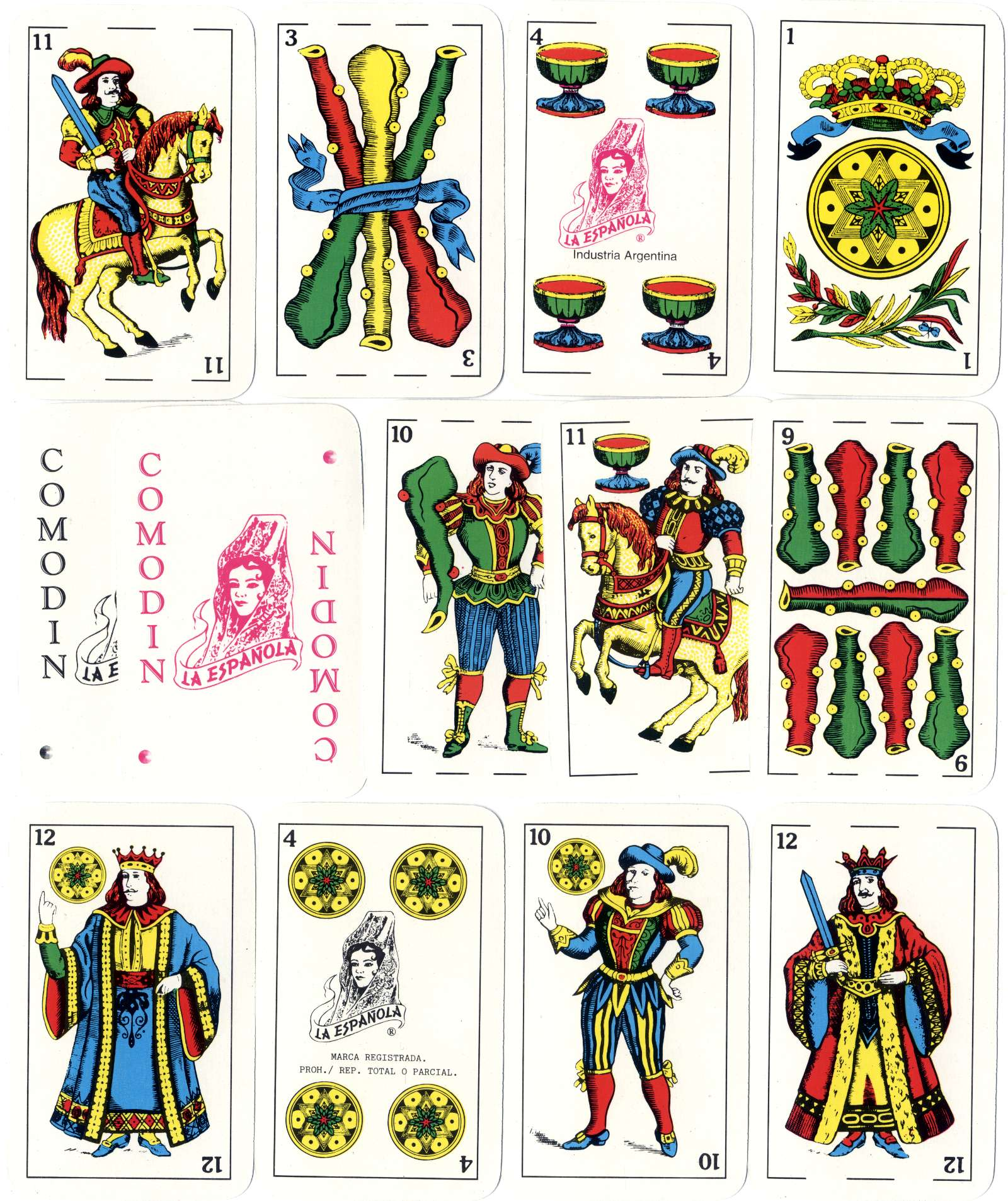La Española Classic playing cards, Gráfica 2001's original classic 'La Española' Spanish-suited pack