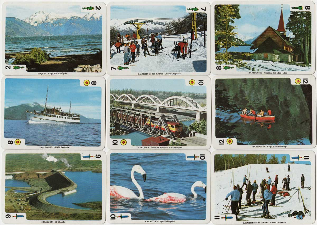 Lagos del Sur Souvenir playing cards, c.1980