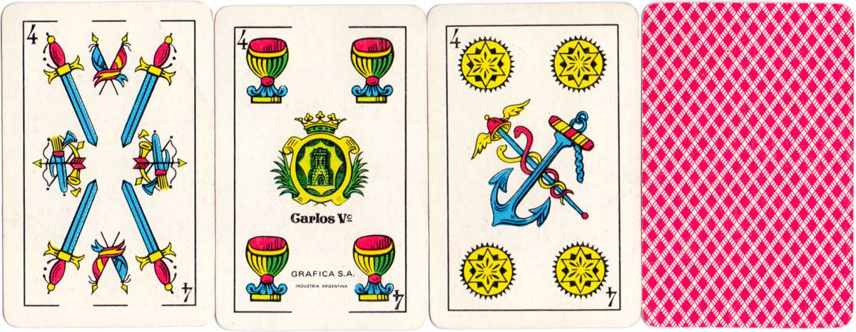 """""""Carlos Vº"""" Catalan pattern by Gráfica S.A., Buenos Aires, 1980s"""