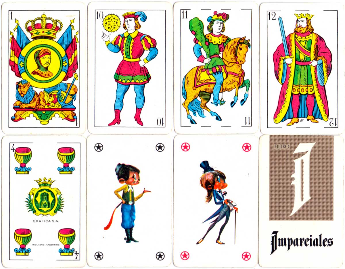 advertising deck by Gráfica S.A. for Imparciales cigarettes, 1980s