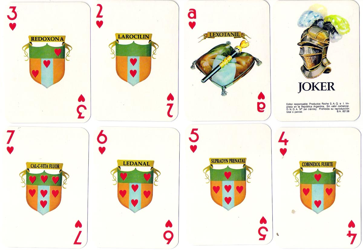 Roche Advertising Playing Cards, Argentina, 1980s