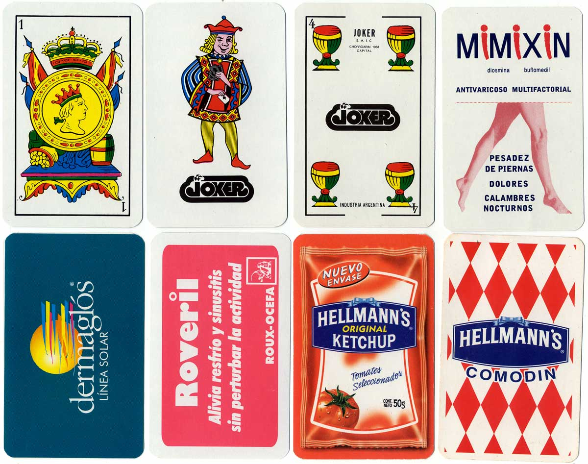 Assorted advertising playing cards by Joker S.A.