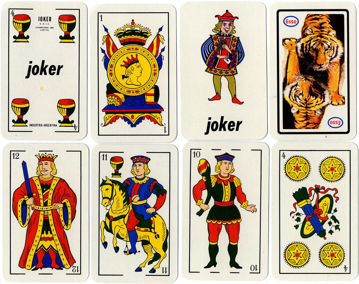 Esso advertising playing cards by Joker S.A., c.1980