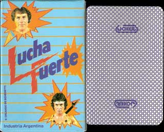 Luchafuerte wrestling card game, c.1984