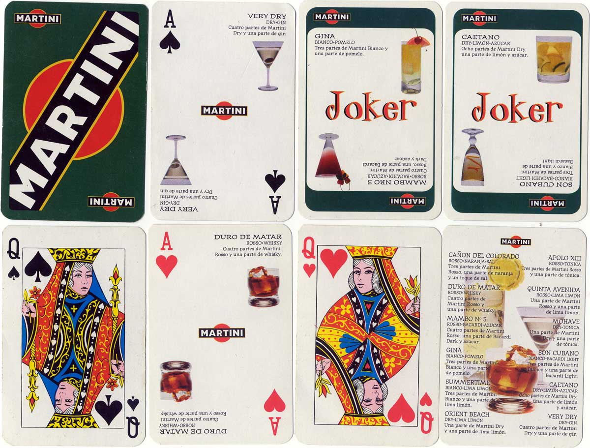 Martini advertising playing cards by Joker S.A., c.2006