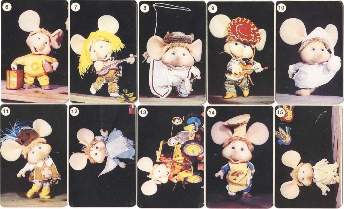 Topo Gigio card game by Joker S.A., Argentina, c.1985