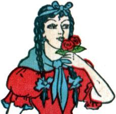 Naipes Casino Estilo Argentino young criolla maiden