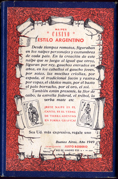Box from Naipes Casino Estilo Argentino, c.1955