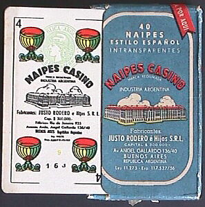 Justo Rodero Naipes Casino four of cups, c.1956