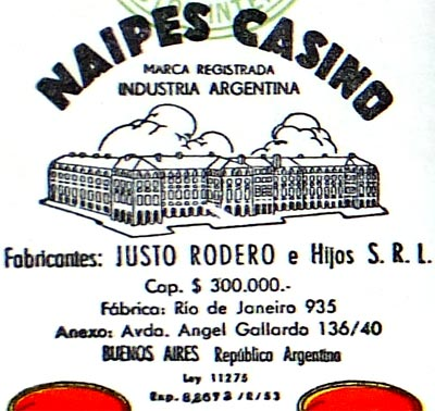 Justo Rodero Naipes Casino four of cups, c.1960