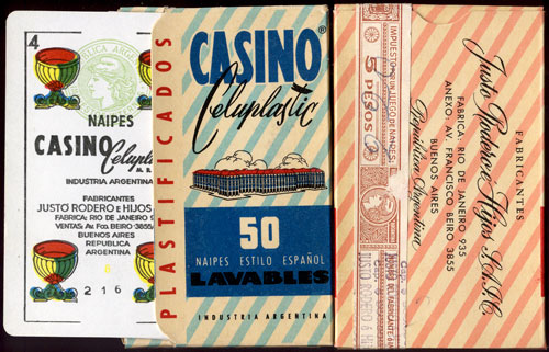 Naipes Casino Celuplastic by Justo Rodero S.R.L.