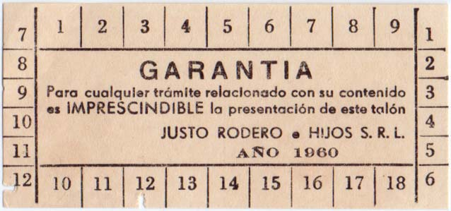 Justo Rodero Naipes Habana, 1960