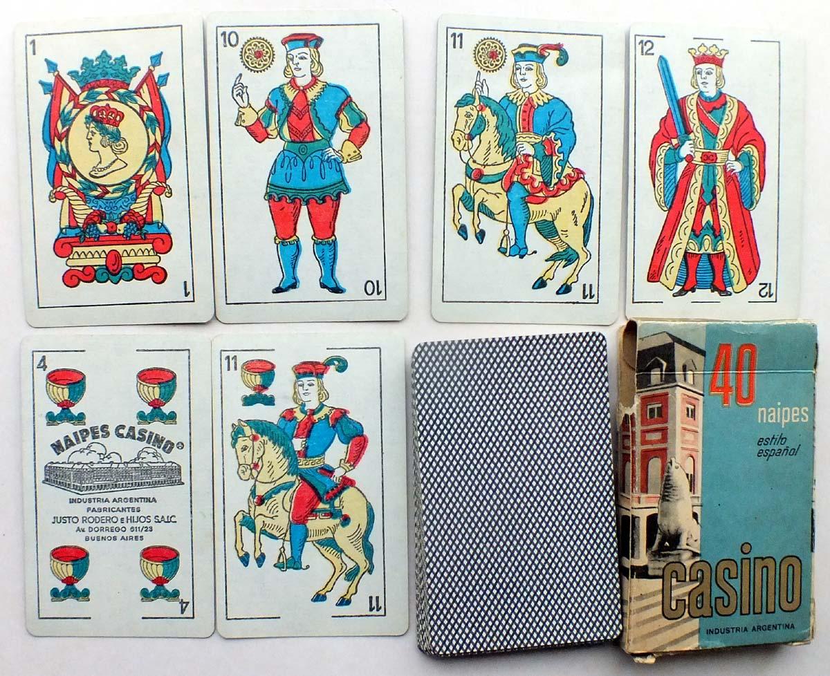 Deck 50 Blue Spanish Playing Cards Catalan Casino Sidecar Justo Rodero Argentina