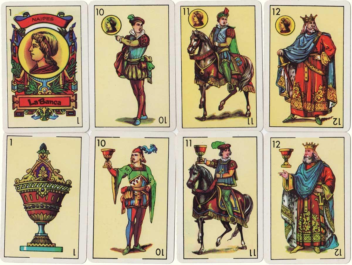 48-card Castilian deck produced by Naipes La Banca