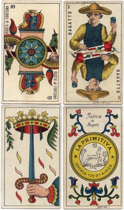 Piedmontese tarot by La Primitiva, Bs As, c.1890