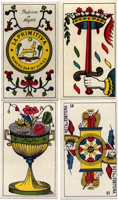 Piedmontese tarot made by La Primitiva, Buenos Aires, c.1900