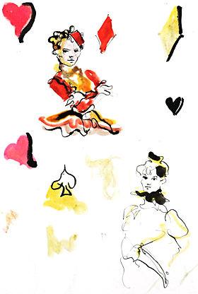 sketch by Leonor Fini