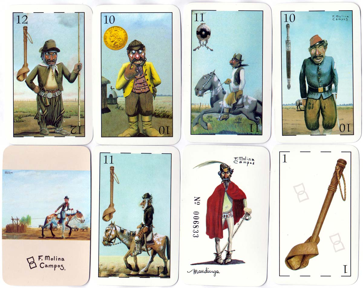 Molina Campos Gaucho playing cards