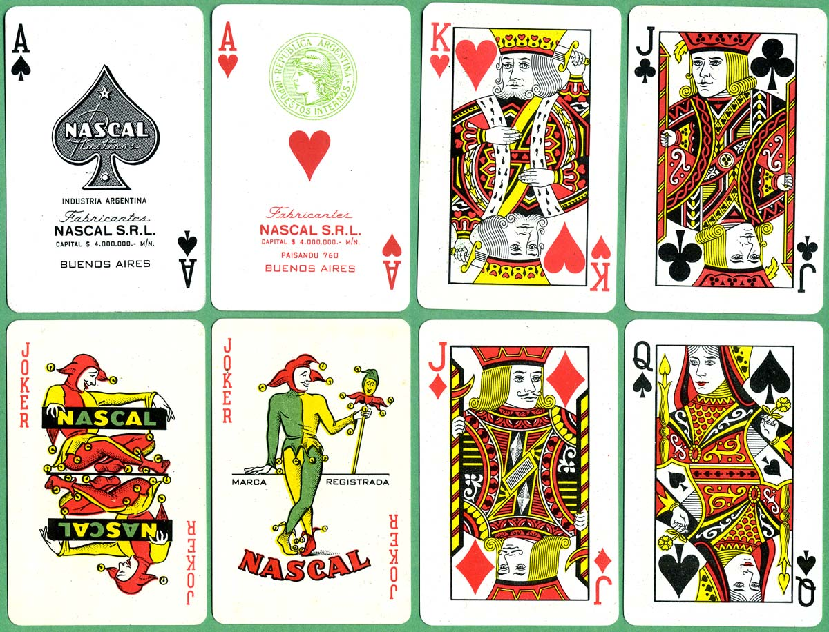Nascal S.R.L., Paisandu 760, Buenos Aires c.1960-80, manufacturers of plastic playing cards