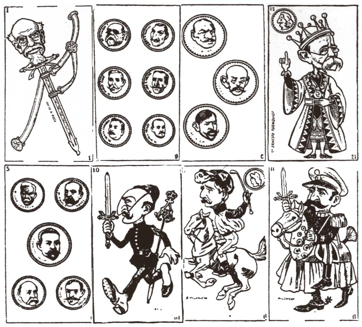 political caricatures pack published in Buenos Aires by Pérez in 1906