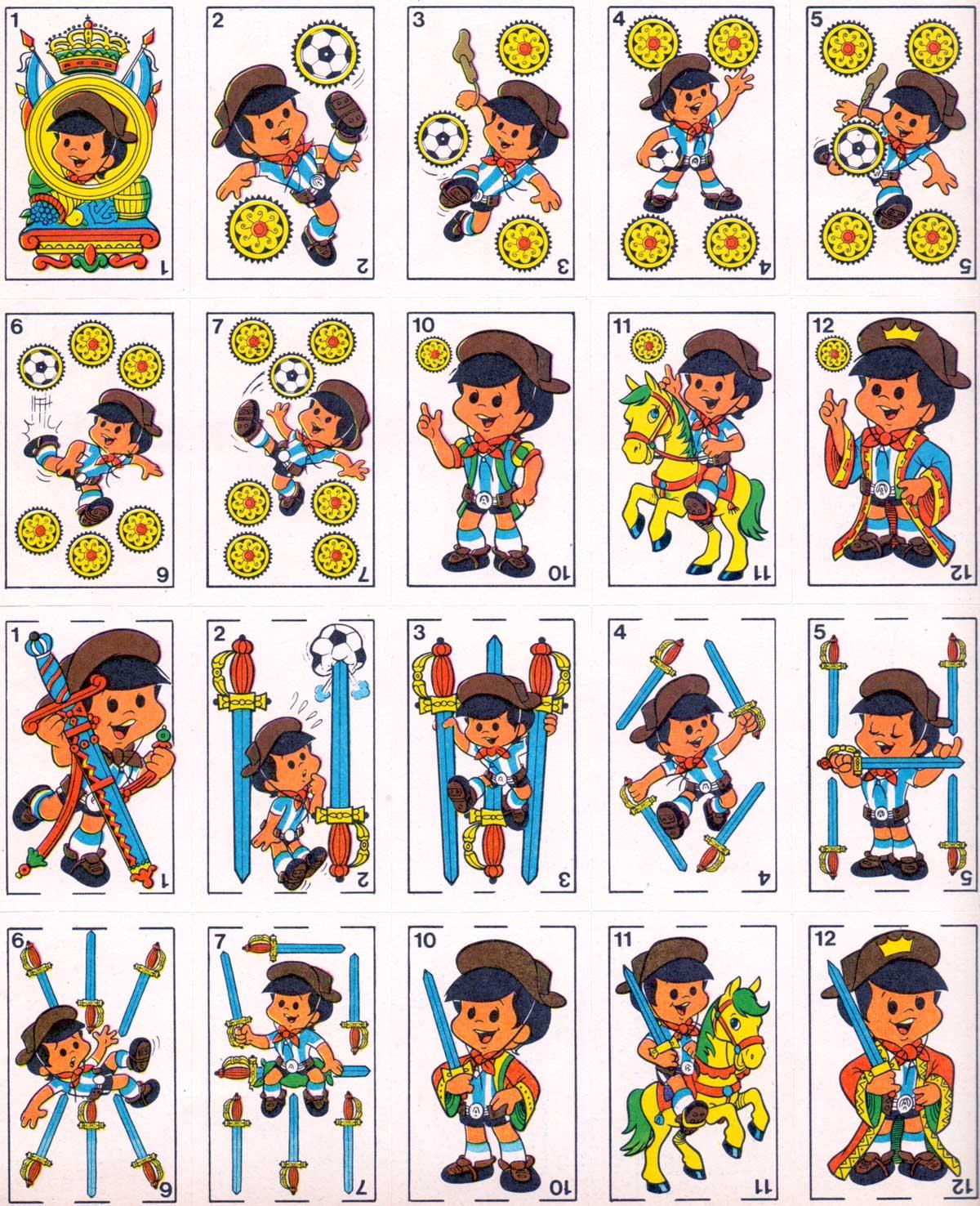 'Mundialito' toy playing cards published inside the magazine 'Radiolandia 2000', Argentina, 1978