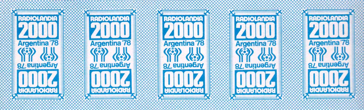 'Mundialito' toy playing cards published inside the magazine 'Radiolandia 2000', Argentina, 1978