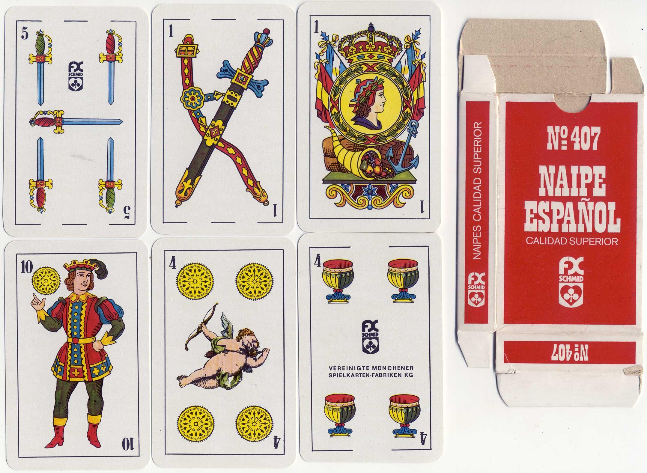 Naipe Español No.407 by F. X. Schmid, c.1980