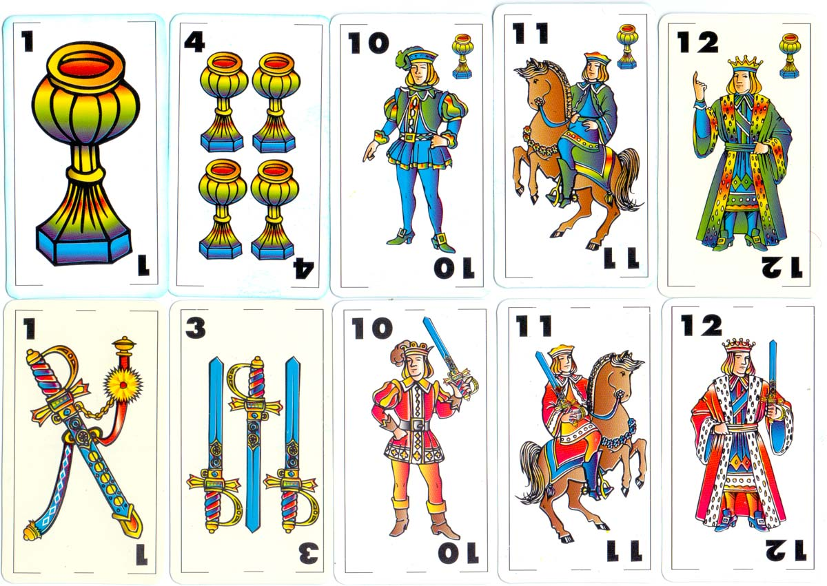 Spanish-suited playing cards by Taller 4, Buenos Aires, Argentina, c.2000