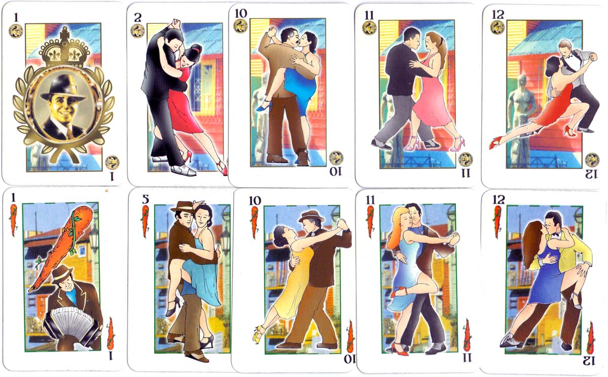 'Tango' playing cards mfrom Argentina, c.2004